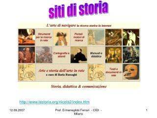 siti di storia