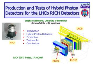Production and Tests of Hybrid Photon Detectors for the LHCb RICH Detectors