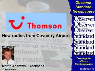 New routes from Coventry Airport