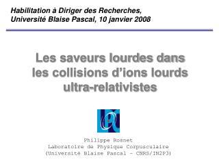 Les saveurs lourdes dans les collisions d�ions lourds ultra-relativistes