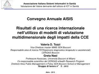 Convegno Annuale AISIS�