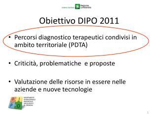 Obiettivo DIPO 2011
