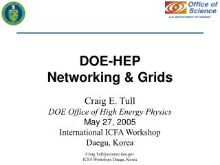 DOE-HEP Networking & Grids