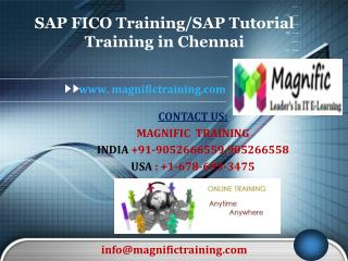 SAP FICO Training/SAP Tutorial Training in Chennai