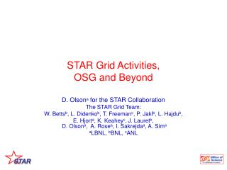 STAR Grid Activities,  OSG and Beyond