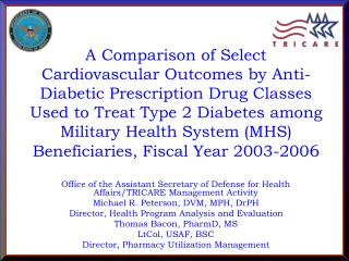 Office of the Assistant Secretary of Defense for Health Affairs/TRICARE Management Activity