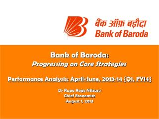 Bank of Baroda: Progressing on Core Strategies