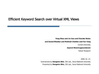 Efficient Keyword Search over Virtual XML Views