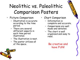 Neolithic vs. Paleolithic Comparison Posters