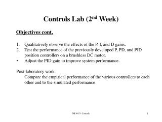 Controls Lab (2 nd  Week) ‏
