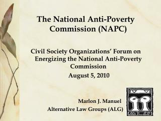 The National Anti-Poverty Commission (NAPC)