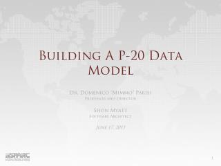Building A P-20 Data Model