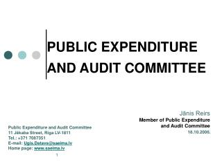 PUBLIC EXPENDITURE AND AUDIT COMMITTEE