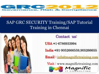 SAP GRC SECURITY Training/SAP Tutorial Training in Chennai