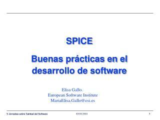 SPICE Buenas prácticas en el desarrollo de software