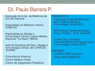 Dr. Paulo Barrera P.