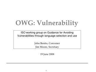 OWG: Vulnerability
