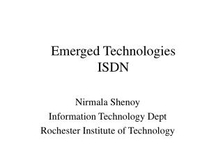 Emerged Technologies ISDN