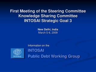 Information on the INTOSAI  Public Debt Working Group