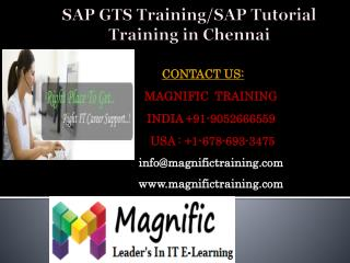 Sap gts training/sap tutorial training in chennai