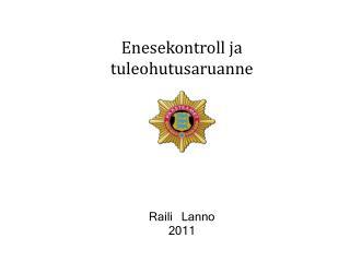 Enesekontroll ja tuleohutusaruanne Raili Lanno 2011