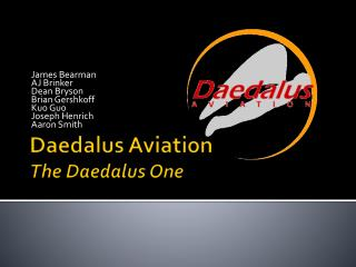 Daedalus  Aviation The  Daedalus  One