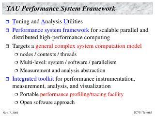 TAU Performance System Framework