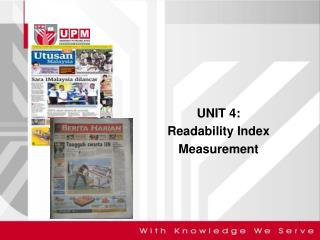 UNIT 4: Readability Index Measurement