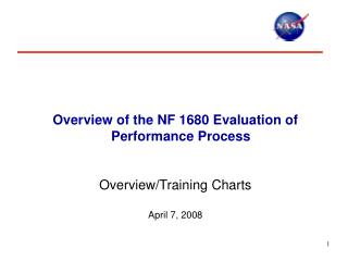 Overview of the NF 1680 Evaluation of Performance Process    Overview