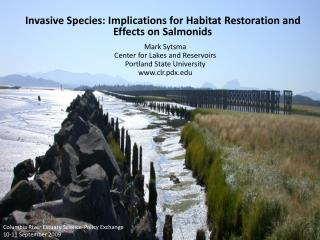 Invasive Species: Implications for Habitat Restoration and Effects on Salmonids