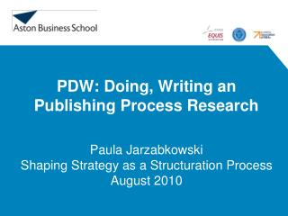 PDW: Doing, Writing an Publishing Process Research
