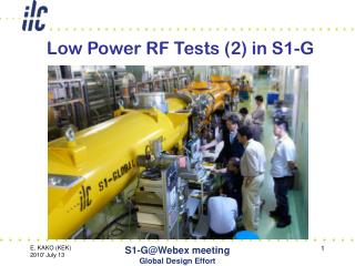 Low Power RF Tests (2) in S1-G