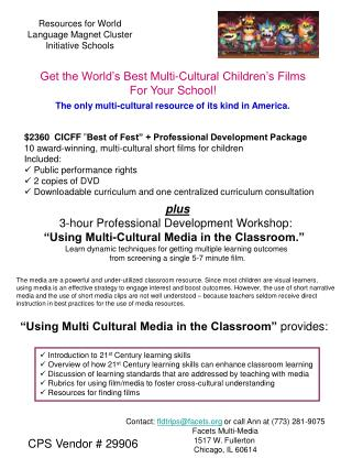 "$2360  CICFF  "" Best of Fest"" + Professional Development Package"