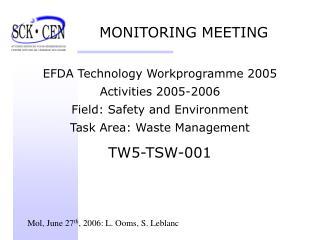 MONITORING MEETING
