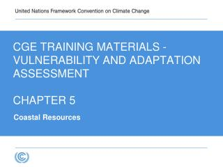 CGE Training materials -  VULNERABILITY AND ADAPTATION   Assessment CHAPTER 5
