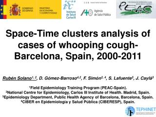 Space-Time clusters analysis of cases of whooping cough-Barcelona, Spain, 2000-2011