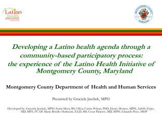 Developing a Latino health agenda through a  community-based participatory process: