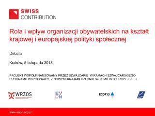 Rola i wpływ organizacji obywatelskich na kształt krajowej i europejskiej polityki społecznej