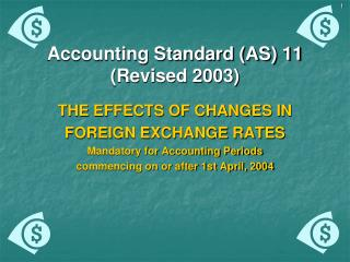 Accounting Standard AS 11 Revised 2003