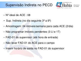 Supervisão Indireta no PECD