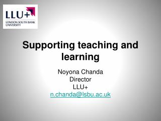 Supporting teaching and learning