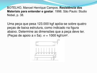 = F/A = 1.000 kgf/cm² F = 123.000 kgf A = F/ A = 123.000 / 1000 A = 123 cm ²