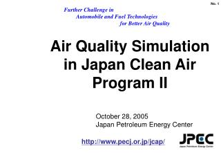 Air Quality Simulation  in Japan Clean Air Program II
