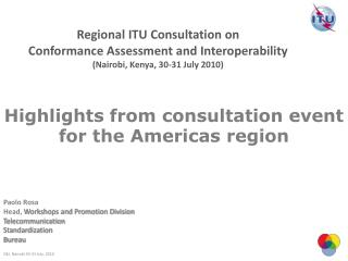 Highlights from consultation event for the Americas region