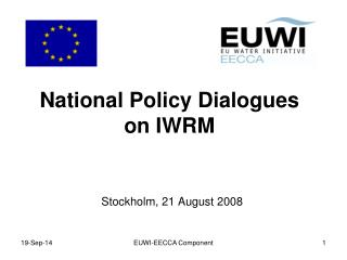National Policy Dialogues on IWRM