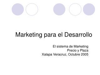 Marketing para el Desarrollo