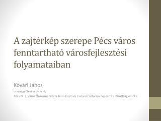 A zajtérkép szerepe Pécs város fenntartható városfejlesztési folyamataiban