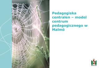 Pedagogiska centralen – model  centrum  pedagogicznego w Malmö