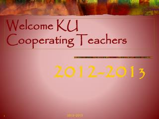 Welcome KU Cooperating Teachers