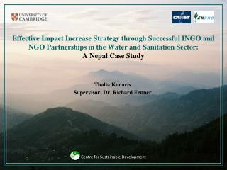 Effective Impact Increase Strategy through Successful INGO and NGO Partnerships in the Water and Sanitation Sector:  A N